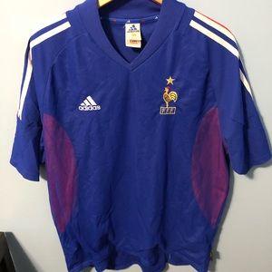 2000s Adidas France Soccer Jersey